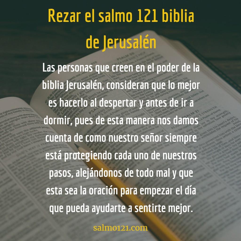 rezar la oración 121 biblia de Jerusalén