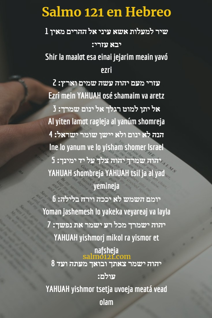 salmo 121 en hebreo