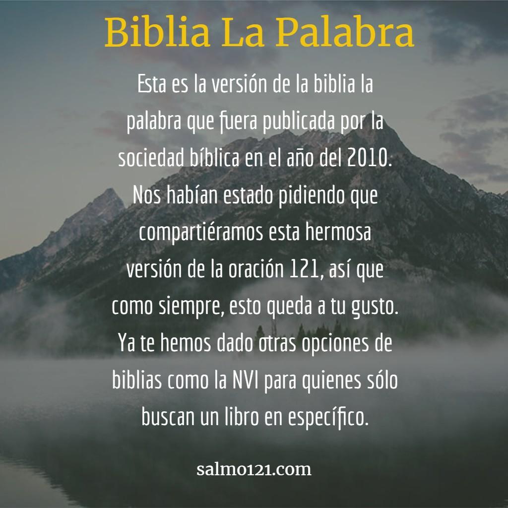 biblia la palabra