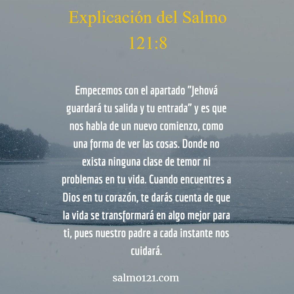 explicación del salmo 121 8