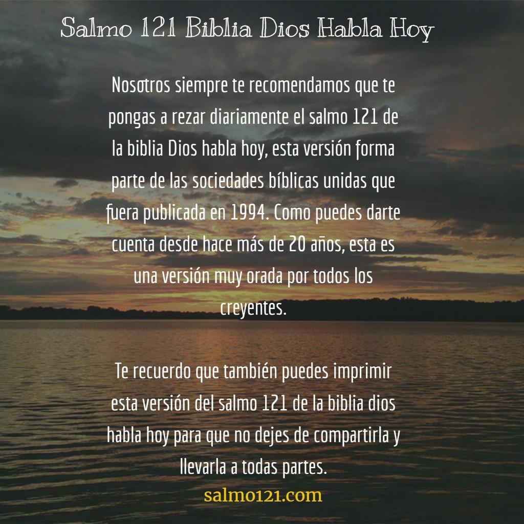 salmo 121 biblia dios habla hoy