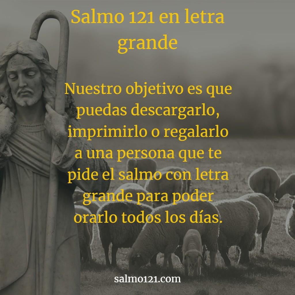 salmo 121 letra grande