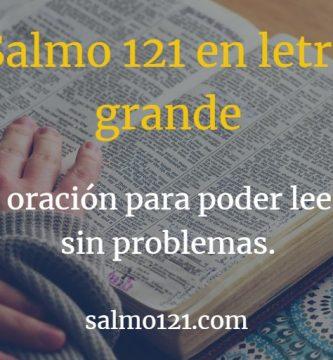salmo letra grande 121