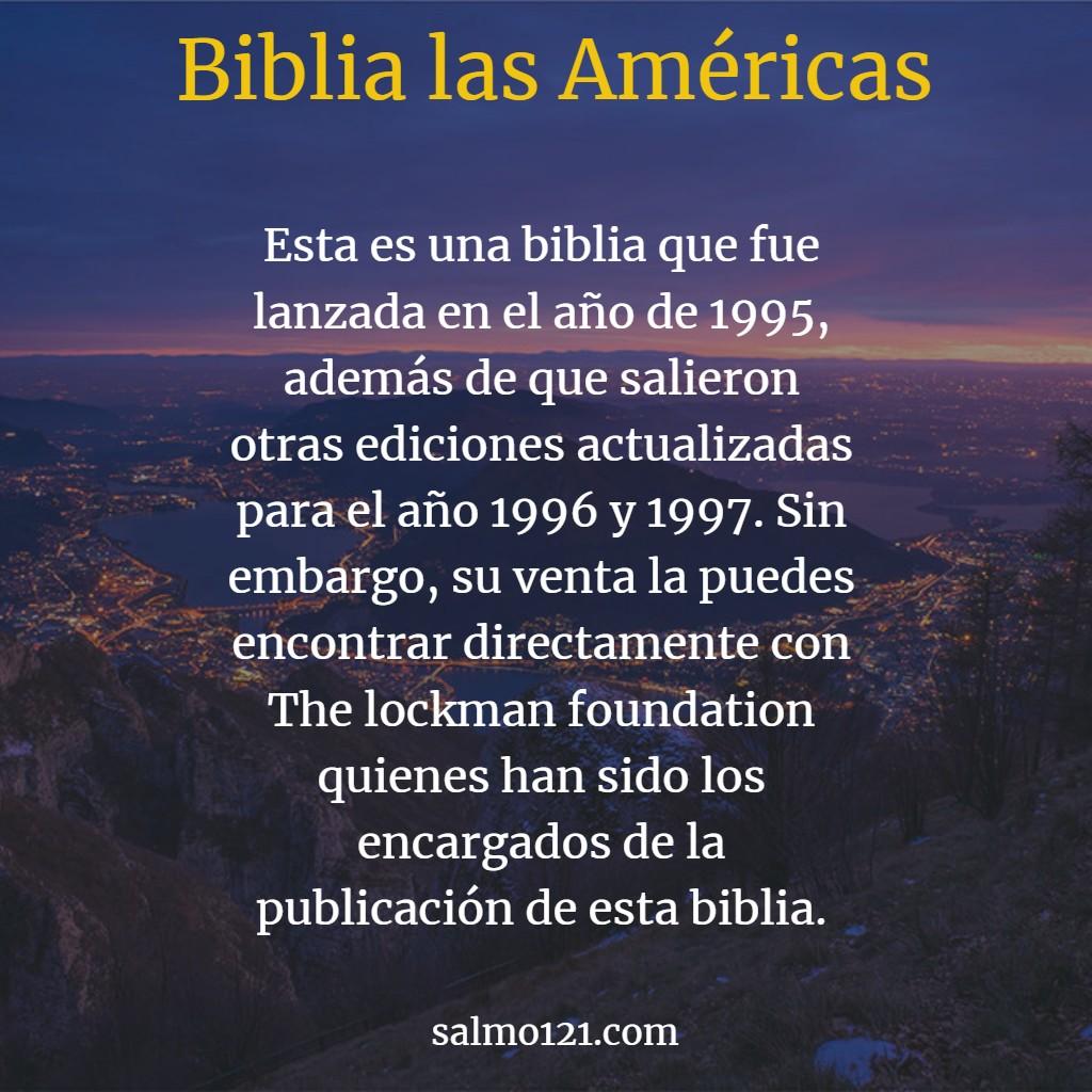biblia las américas