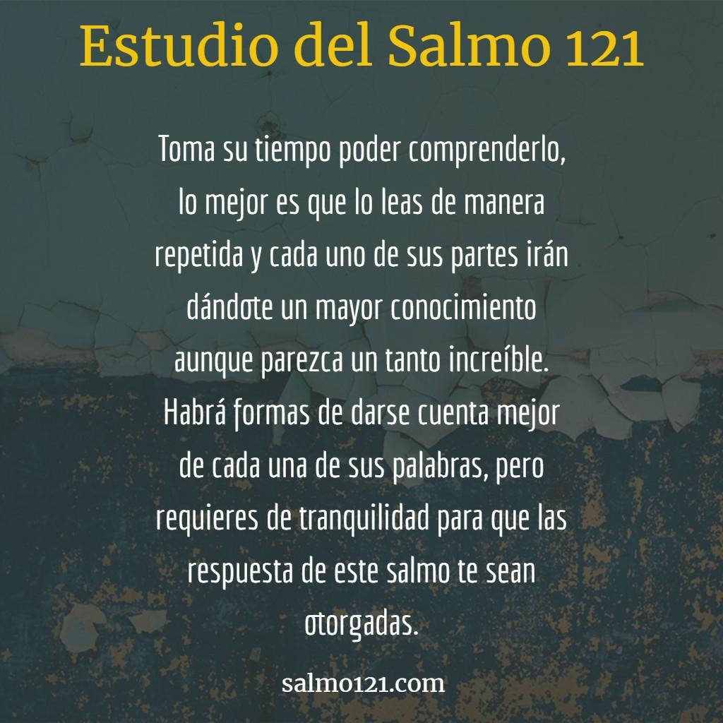estudio del salmo 121