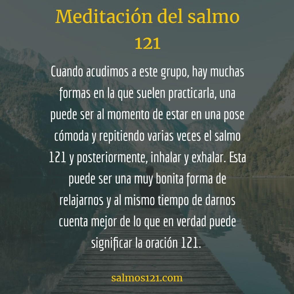 meditación del salmo 121