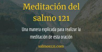 meditación salmo 121