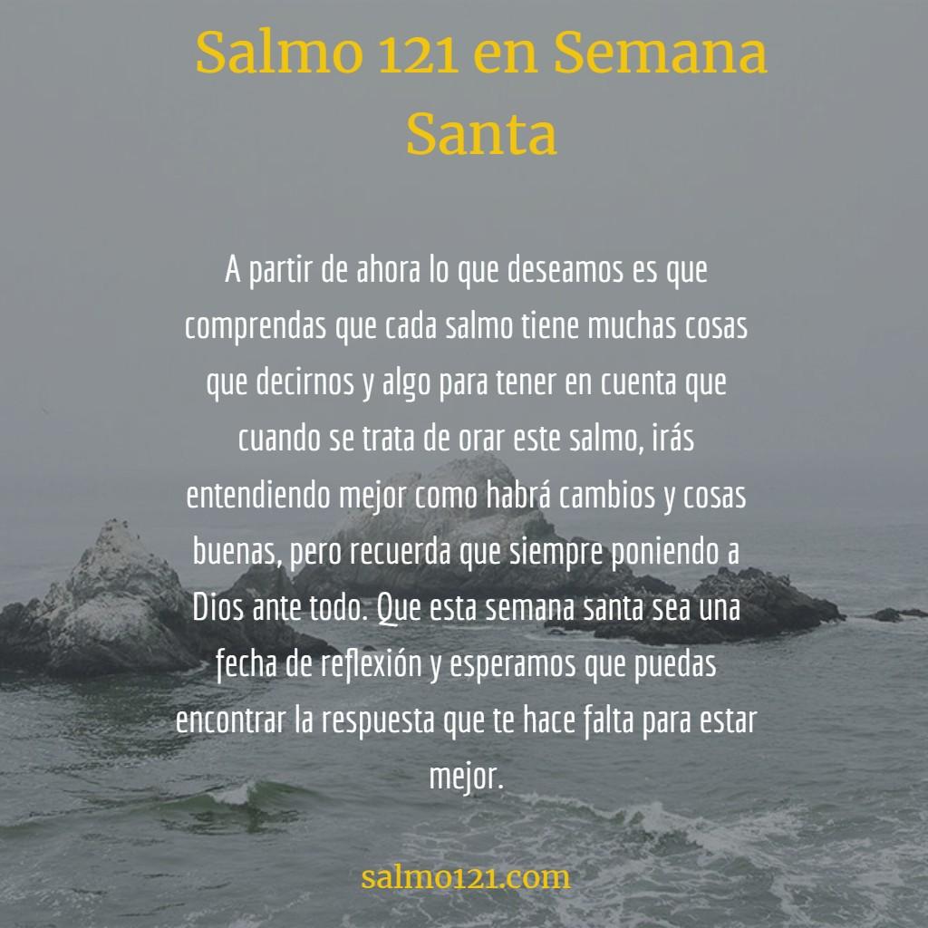 oracion 121 en semana santa