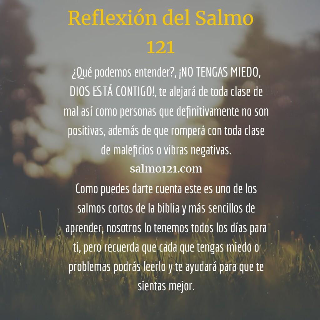 reflexión del salmo 121