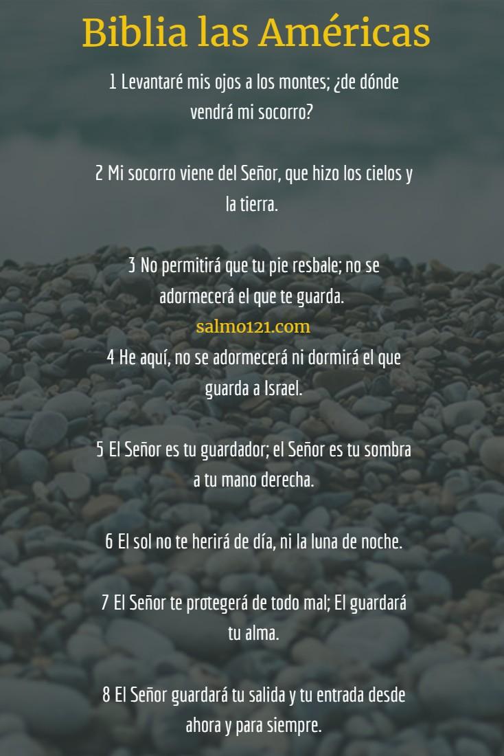 salmo 121 biblia las americas