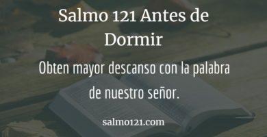 oracion 121 antes de dormir
