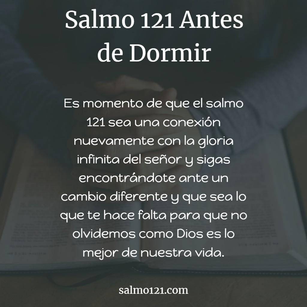 salmo 121 antes de dormir