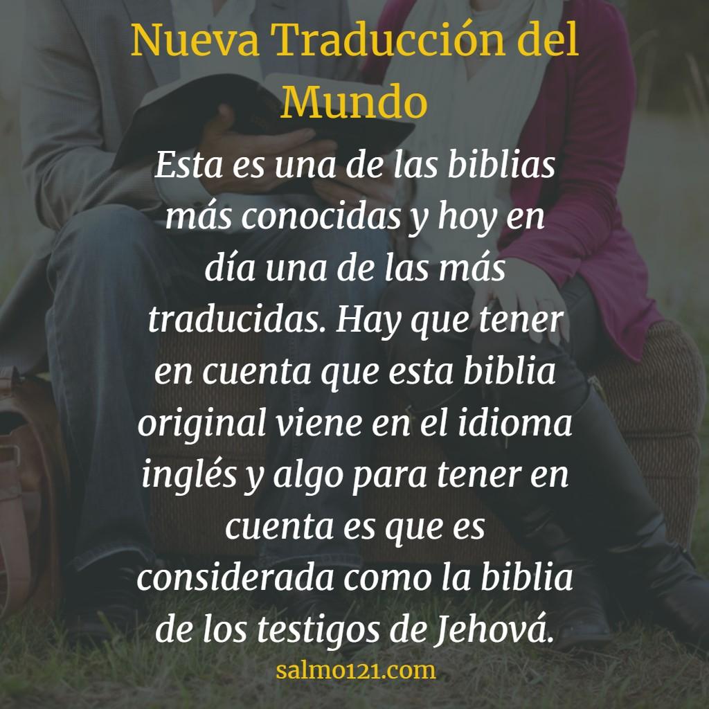 biblia nueva traducción del mundo