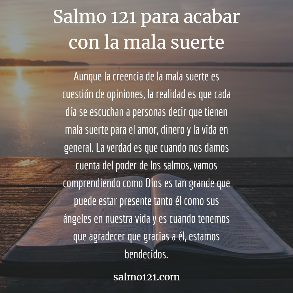 salmo 121 para mala suerte