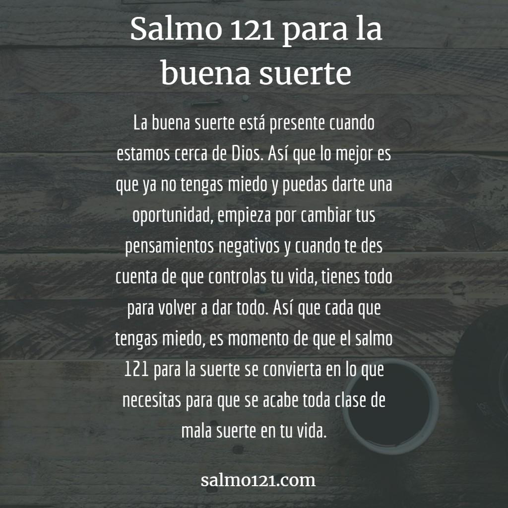 salmo 121 para la buena suerte